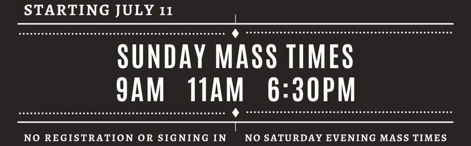July 11 Sunday Mass - 300px