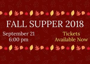 Fall Supper 2018